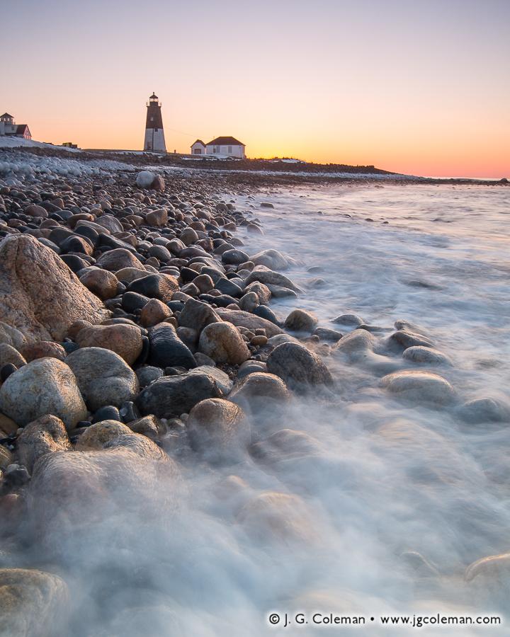 &#8220Narraganset Shores II&#8221, Point Judith Lighthouse, Narragansett, Rhode Island