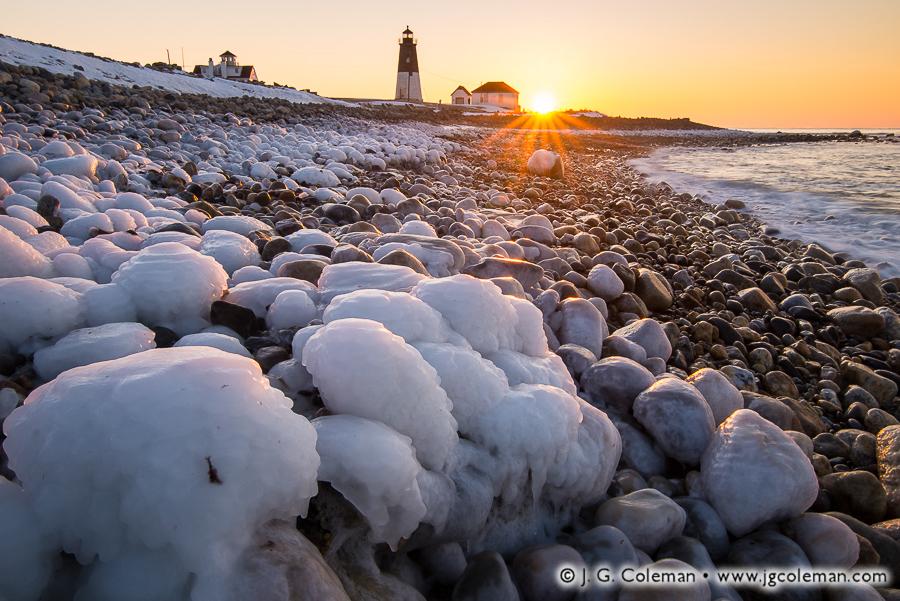 &#8220Sweet Dawn, Bitter Cold&#8221, Point Judith Lighthouse, Narragansett, Rhode Island