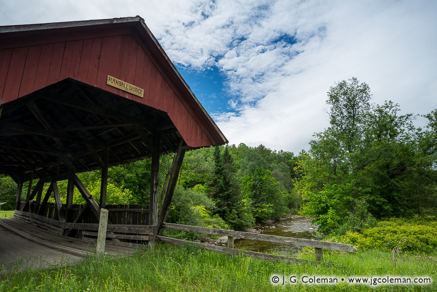 Randall Crossing at Lyndon (Randall Covered Bridge over the East Branch of the Passumpsic River, Lyndon, Vermont)