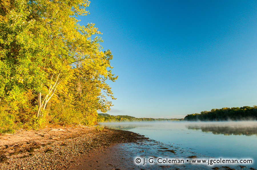 &#8220Early Autumn on the Connecticut&#8221, Connecticut River, River Highlands State Park, Cromwell, Connecticut