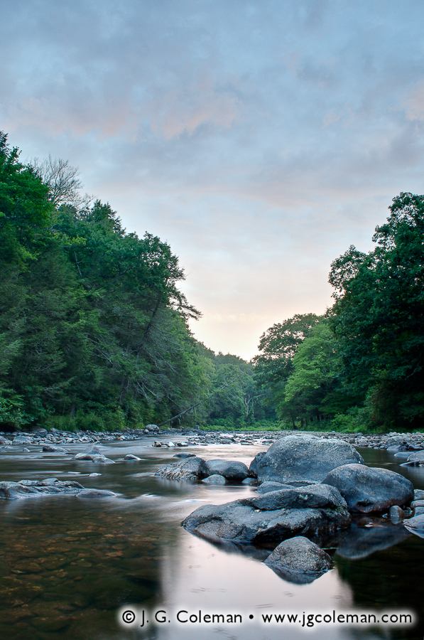 &#8220Daybreak Over Salmon River&#8221, Salmon River, Salmon River State Forest, Colchester, Connecticut
