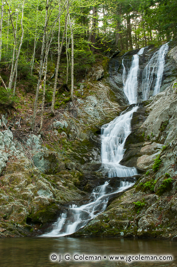 &#8220Falls of Ross Brook&#8221, Tannery Falls, Savoy Mountain State Forest, Savoy, Massachusetts