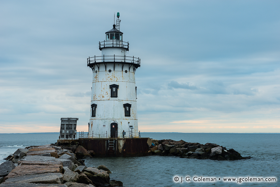 &#8220The Light at Saybrook Breakwater&#8221, Saybrook Breakwater Lighthouse off Lynde Point, Old Saybrook, Connecticut
