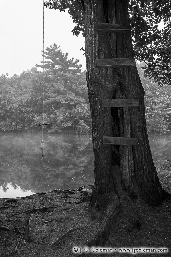 &#8220Swing at the Lakeside&#8221, Scovill Reservoir, Wolcott, Connecticut