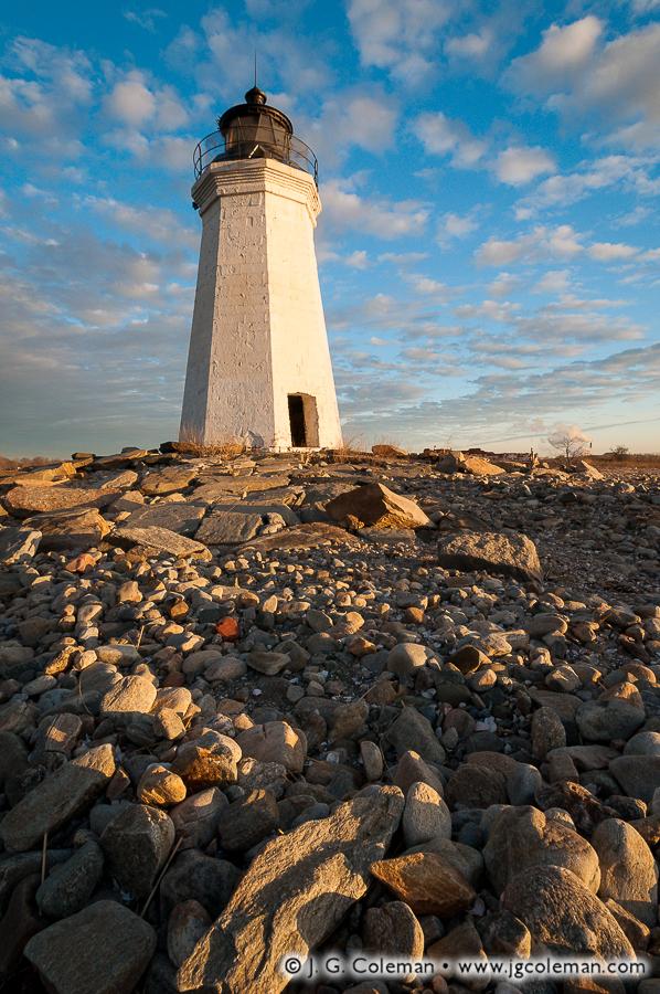 &#8220Dawn on the Old Light&#8221, Black Rock Harbor Lighthouse, Fayerweather Island, Seaside Park, Bridgeport, Connecticut