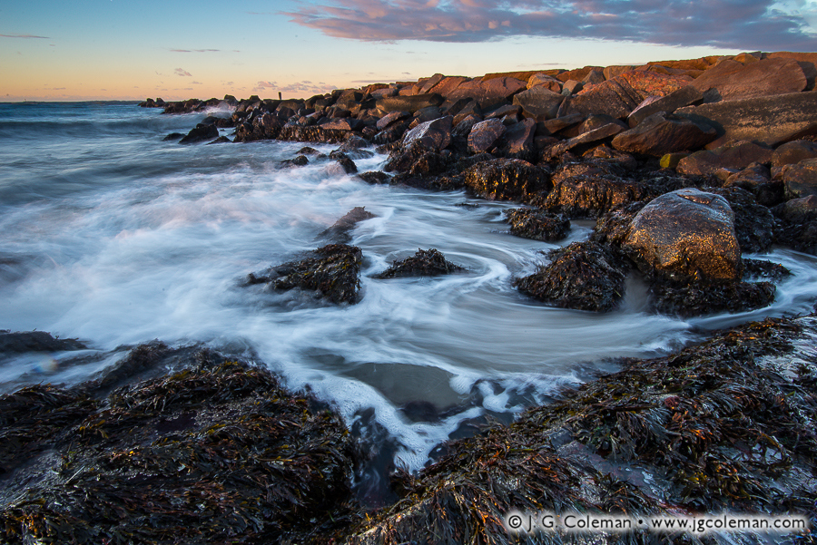 &#8220Surge at First Light&#8221, Long Island Sound, Seaside State Park, Waterford, Connecticut