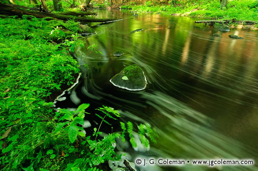 &#8220Emerald Riverscape on Roaring Brook&#8221, Sheepskin Hollow Preserve, East Haddam, Connecticut