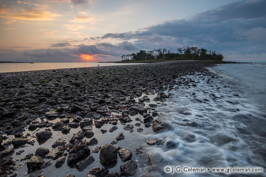 &#8220Tombolo Dawning&#8221, Charles Island, Silver Sands State Park, Milford, Connecticut