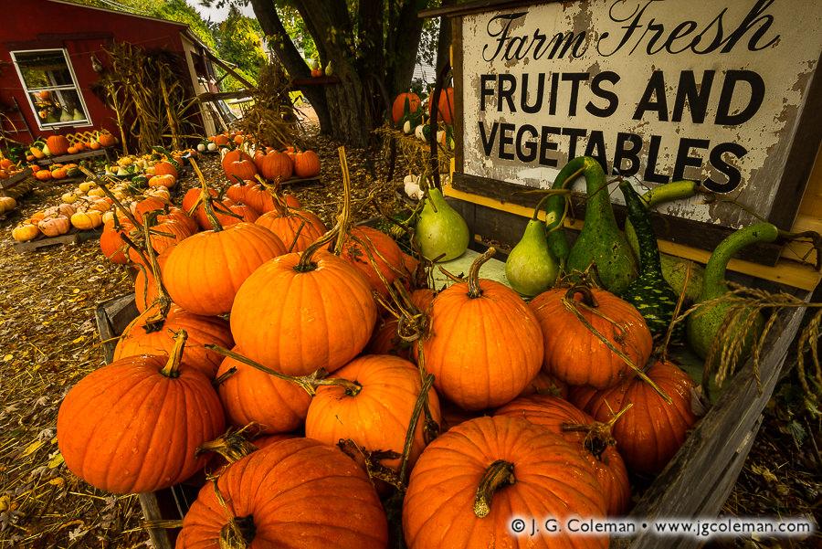 &#8220J. L. Hall Farm Stand, Autumn 2017&#8221, Simsbury, Connecticut