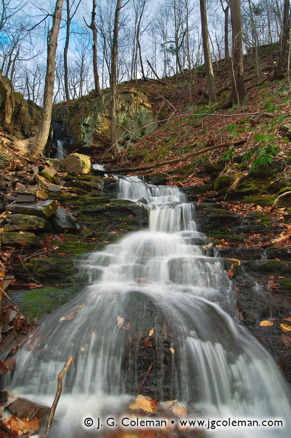 &#8220Down the Slopes of Totoket&#8221, Stair Brook Falls, North Branford, Connecticut