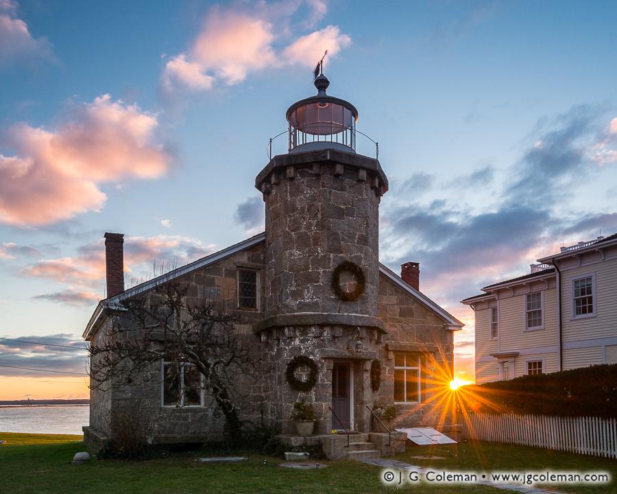 &#8220First Light at Stonington Harbor&#8221, Stonington Harbor Lighthouse, Stonington, Connecticut