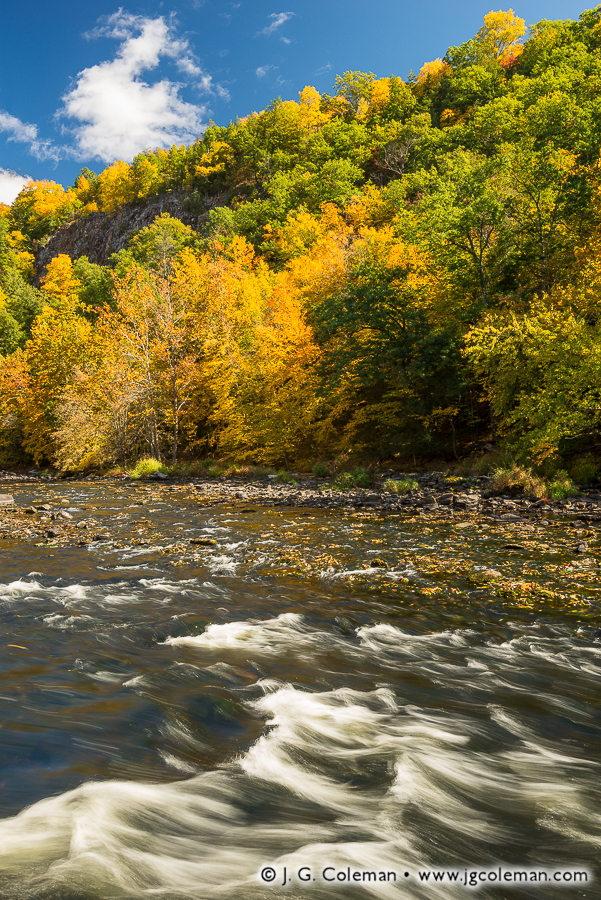 &#8220Tariffville Autumn&#8221, Farmington River at the Tariffville Gorge, Simsbury & East Granby, Connecticut