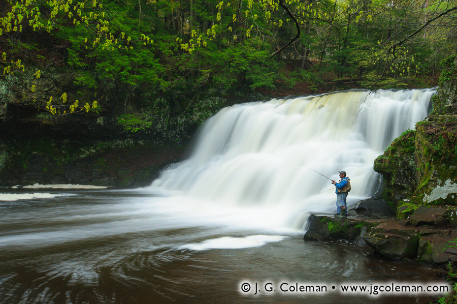 &#8220Fisherman at the Falls&#8221, Wadsworth Falls, Wadsworth Falls State Park, Middlefield, Connecticut